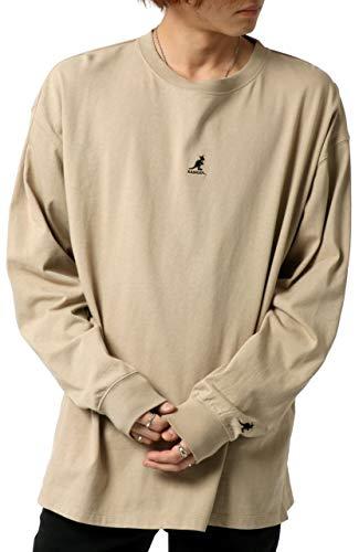 [カンゴール] Tシャツ メンズ 長袖 刺繍 ロゴ ベージュ L