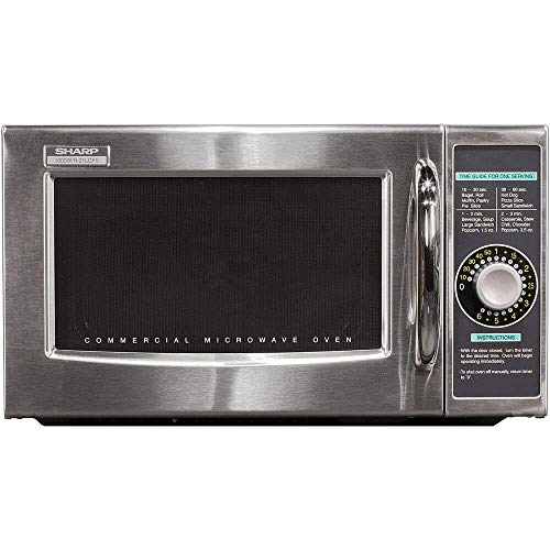 Sharp R-21LCFS Medium Duty Commercial Microwave (Dial Timer, 1000-Watts, 120-Volts) (Update of R-21LCF)