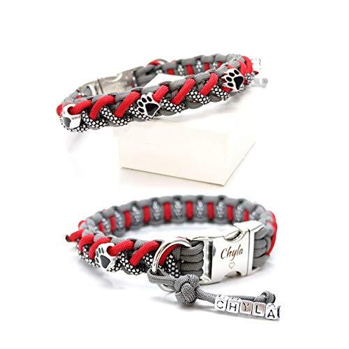 Paracord Halsband - Floating Colors Smal, wahlweise mit Gravur und weiteren Extras, geeignet für kleine Hunde