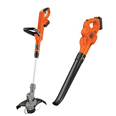 Black Decker 20-Volt Max Lithium-Ion Cordless String Trimmer/Sweeper Combo Kit (2-Tool) with (2) 1.5Ah Batteries and Charger Included
