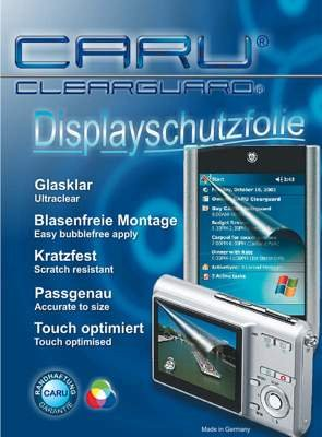 CARU Clearguard Displayschutz, keine Blasenbildung, kratzfest bis Bleistifthärte 4H, UV beständig, Transparenz über 99%, passgenau für Pentax ist DL