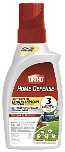 Ortho Home Defense Insect Killer for Lawn & Landscape Concentrate - Treats up to 5,300 sq. ft., For Ants, Ticks, Mosquitoes, Fleas & Spiders, Starts Working Within Minutes, 32 oz.