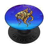 Amante del Pez Ángel Amante de los Peces Acuario Propietario de Mascotas Aquas PopSockets PopGrip Intercambiable