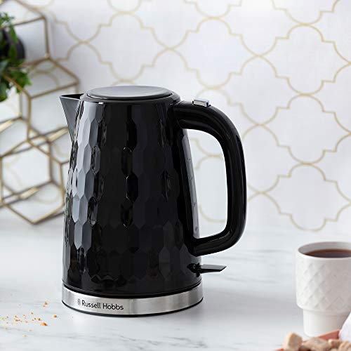 41qtwHnethL. SS500  - Russell Hobbs 26051 Cordless Electric Kettle - Contemporary Honeycomb Design with Fast Boil and Boil Dry Protection, 1.7…