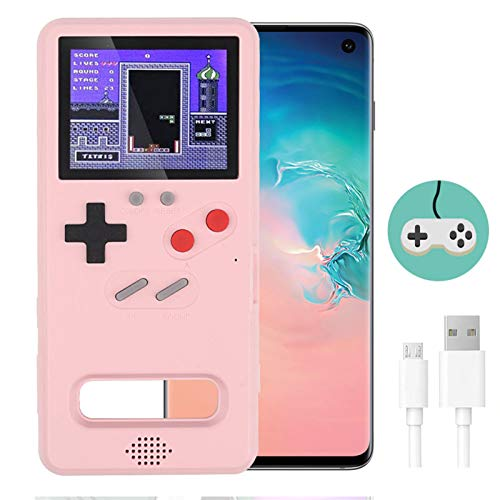 Gameboy Case for Galaxy,LucBuy Cool Full Color Display,Retro Protective Cover Case with 36 Fun Game,Shockproof Video Game Phone Case with USB Charging Cable,for Galaxy Note10/20/S10/20/Plus/Ultra