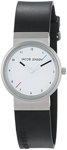 JACOB JENSEN Damen-Armbanduhr JACOB JENSEN NEW SERIES ITEM NO. 743 Analog Quarz Kautschuk JACOB JENSEN NEW SERIES ITEM NO. 743