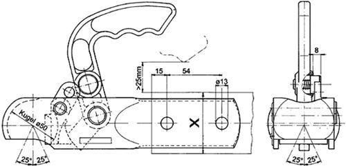 Kugelkupplung für DDR Anhänger HP / KK92 F 60
