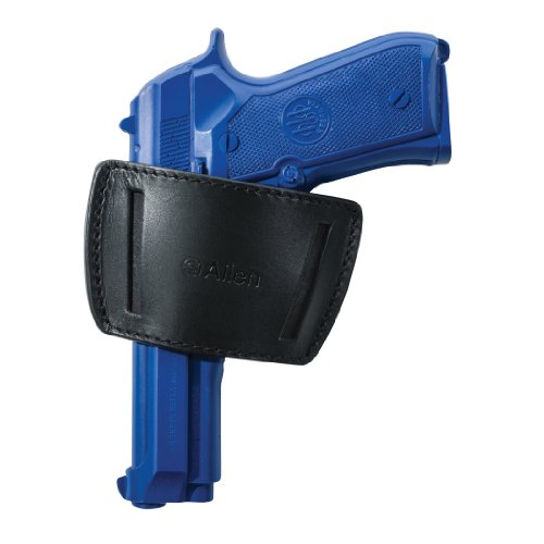 Allen Company Glenwood Leather Belt Slide Gun Holster, Ambidextrous, Med/Large Frame Semi-Auto Handguns, Colt 1911, Beretta 92, PX4, Vertec, Glock 17, 19, 21, 26, 30, 36, & Ruger P89, Black