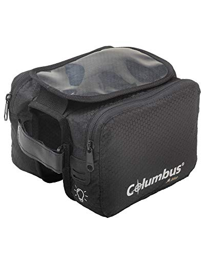 COLUMBUS Bike Frame Bag+ Cellulare Borsa per Bici Ciclismo, Adulti Unisex, Multicolore (Multicolore), Taglia Unica