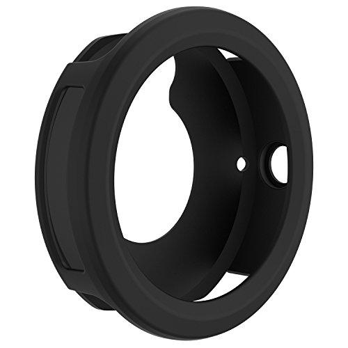 RunTech Compatible for Garmin Vivoactive 3 Watch Protective Case, Soft Silicone Case Cover Protector Sleeve for Vivoactive 3 Band Cover (Black)