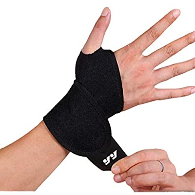 Wrist Support Brace Sports Exercise Training Hand Protector Neoprene Wrist Wraps with Thumb Loops -Suitable for Both Right and Left Hands (Style1/black/1pack)