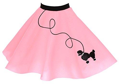 Hip Hop 50s Shop Poodle Skirt for Girls Size Large 10/11/12 Light Pink
