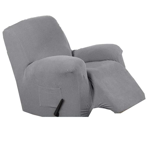 DWSM - Sofá de 1 plaza antideslizante para animales de compañía, extensible grueso y reclinable, funda de sofá con bolsillo lateral antideslizante, lavable, funda de sillón (3)