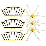 6pcs Kit de accesorios para aspiradoras de filtros y cepillos...