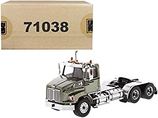 Western Star 4700 SB Tandem Day Cab Tractor Metallic Olive Green 1/50 Diecast Model by Diecast Masters 71038