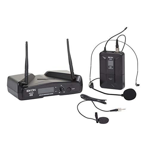 Proel EIKON WM300H - Radiomicrofono UHF Wireless Professionale con ricevitore + trasmettitore ad Archetto o Pulce, Nero (EIKON WM300H)
