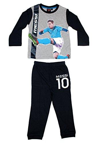 Leo Messi - Pijama dos piezas - para niño gris 4 años