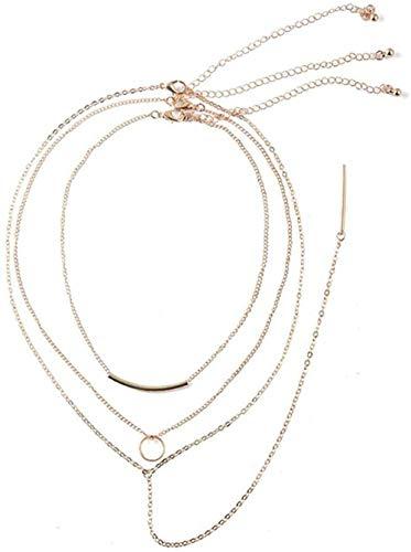 OlovdHit Collar Colgante De Collar De Mujer con Flecos Largos Tubo De...