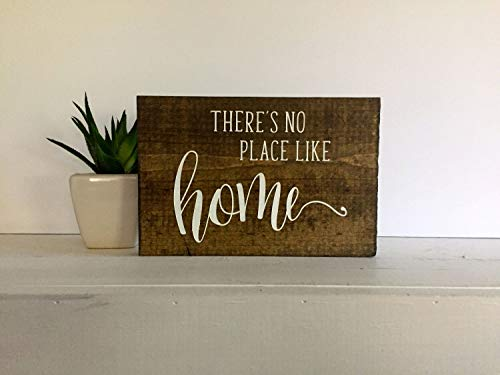 43LenaJon Theres no Place Like Home Letrero, There Are no Place Like Home, Theres no Place Like Home, Theres no Place Like Home, letreros de Madera, Carteles de Madera, Cartel Personalizado