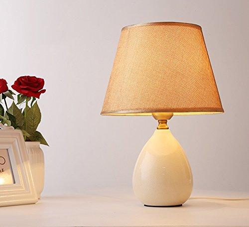 SKC Lighting-lampe de table Petite lampe de table en céramique style country américain chambre salon bouton interrupteur lampe (Couleur : A)