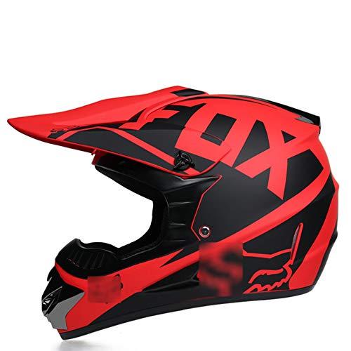 TR-yisheng Offroad-Motorradhelm mit Schutzbrille + Handschuhen + Maskenset,...