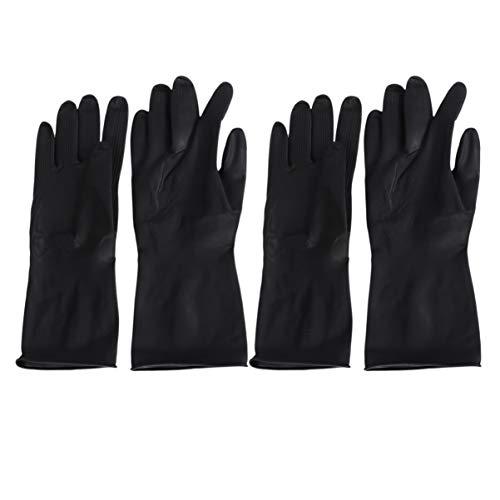 Minkissy Haarfärbemittel Handschuhe Gummi Friseurhandschuhe Handschützer Haar Schönheit Werkzeuge für Friseursalon Haarfärben 2 Paare (L)