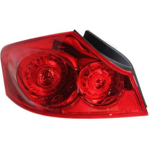 Garage-Pro Tail Light for INFINITI G35 07-08 / G37 09-13 / Q40 15-15 LH Assembly Red Lens Sedan