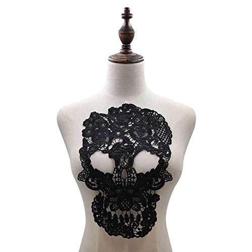 3D holle kant stof jurk applicatie motief blouse naaien boord DIY kanten kraag naaien handwerk hals decor scrapbooking, zwart