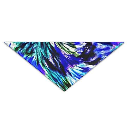 Gxdchfj Blue Abstract Feather Texture Triangle Pet Scarf Dog Bandana Pet Collars for Dog Cat - Birthday