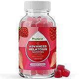 Melatonin Gummy Vitamins Sleep Supplement - Natural Sleep Aid Adult Melatonin Gummies 5mg Deep Sleep Supplement - Melatonin 5mg Mood Support Restful Sleep Gummies Sleeping Aid and Nighttime Immunity