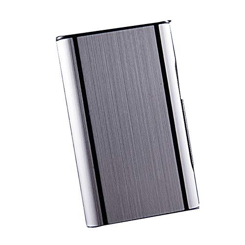 Zigarettenetui Ultradünne Aluminiumlegierung Zigarette 10 Sticks Gewöhnliche Zigaretten Anti-Druck-Zigarettenschachteln,Silber