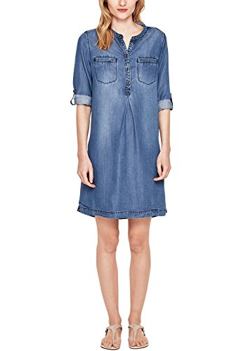 s.Oliver Damen 14.803.82.7591 Kleid, Blau (Blue Denim Non Stretch 58y5), 34