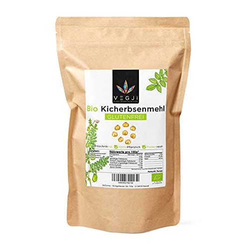 Bio Kichererbsenmehl Glutenfrei, aus Bio-Anbau in Italien - 1000g