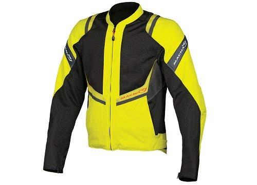 MACNA badjas voor buiten, waterbestendig, geel-zwart, maat L