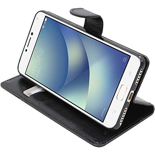 ebestStar - kompatibel mit Asus Zenfone 4 Max Hülle ZC554KL (Pro, Plus) Kunstleder Wallet Hülle Handyhülle [PU Leder], Kartenfächern, Standfunktion, Schwarz [Phone: 154 x 76.9 x 8.9mm, 5.5'']