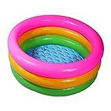 FGDFGDFEEGVD Aufblasbare Badewanne für zu Hause und auf Reisen Kindersitz Badewannen Baby Pool PVC Dicke Runde DREI-Farben-DREI-Ring