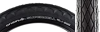 Origin8 Supercell Folding Bead Fat Bike Tires, 26 x 4.0, Black/Black