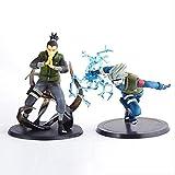 LJUCTD 2 uds 13cm Japón Anime Naruto Nara Shikamaru y Kakashi Figuras Juguetes PVC Figura de acción ...