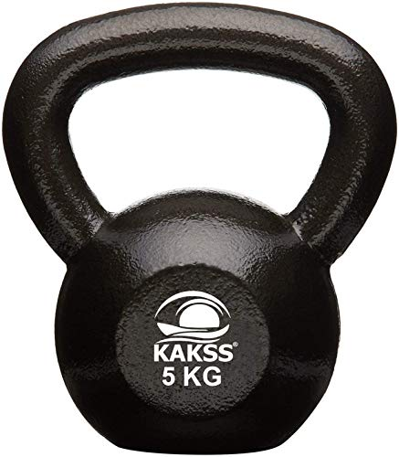 Kakss Cast Iron Kettlebell for Strength and Conditioning/Fitness/Cross Training Assorted Colour Kettle Bell for Home Gym (10 KG) (Proudly Made in India)