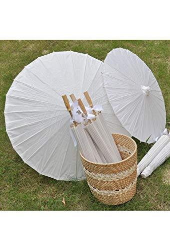 Set met 20 parasols van wit papier, voor bruiloft, 70 cm – koop paraplu's, paraplu's voor decoratie en bruiloftsdetails.