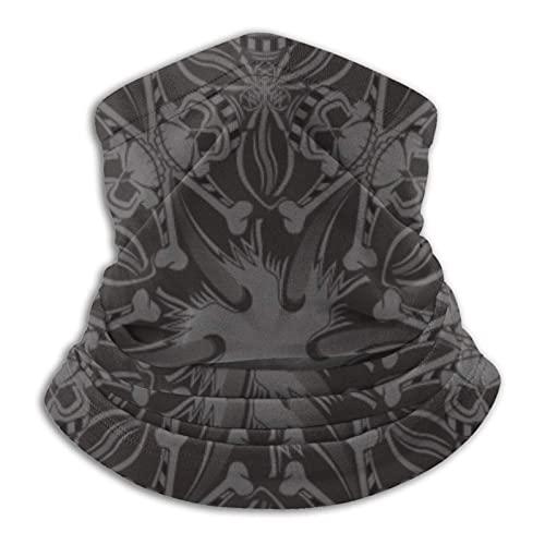 asdew987 Calavera pirata patrón geométrico hombres y mujeres microfibra calentador de cuello Polaina elástico cubierta de la cara media máscara tubo bufanda versatilidad bandana diadema diadema