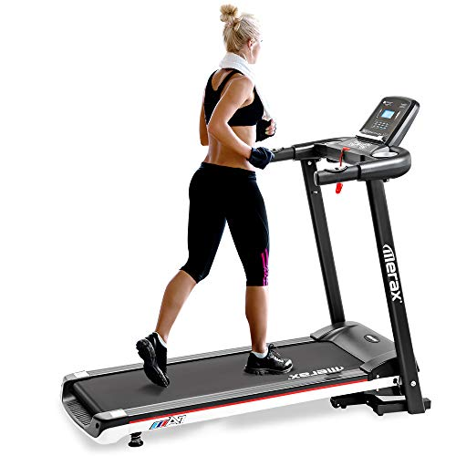 Merax Folding Electric Treadmill Easy Assembly Motorized Power Running Machine Fitness