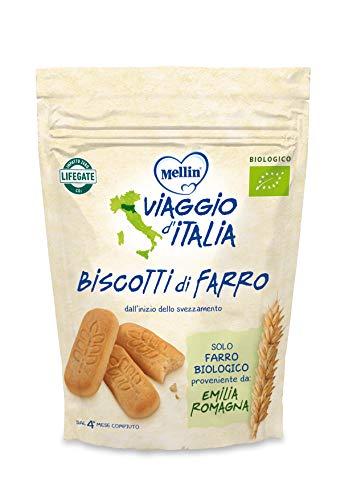 Mellin Viaggio d'Italia, Biscotti di Farro Bio - 6 Confezioni da 150 gr