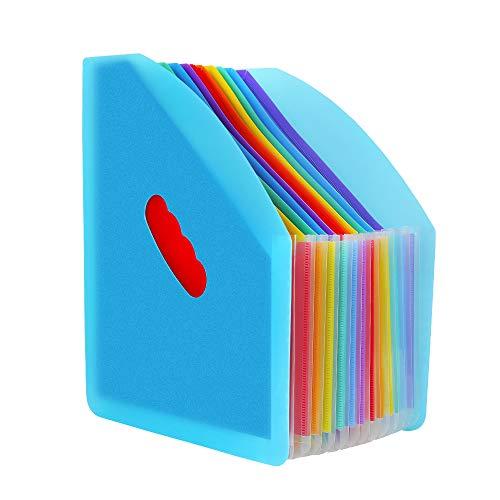 Carpeta Clasificadora - ABClife Archivador acordeón 13 Bolsillos de gran Capacidad soporte Extensible portátil acordeón Clasificador Documentos, Archivador A4 para Office School