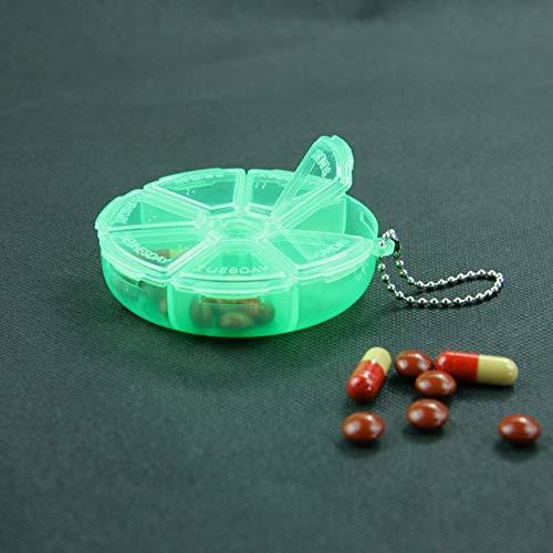N / A 7 Slots 7 Tage Tablet Pille Aufbewahrungsbox Wöchentliche Drug Organizer Case Geschenk Mini Aufbewahrungsbox 8x2CM