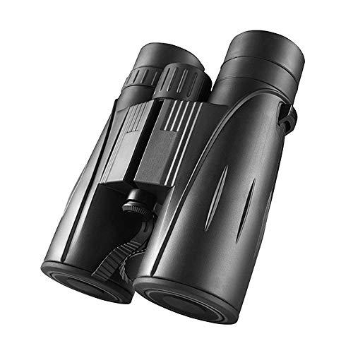 SHKUU Telescopio 8x42 binoculares, Binocular Compacto portátil de Alta Potencia con visión Nocturna Clara y débil para observación de Aves, Viajes al Aire Libre, Turismo, fútbol