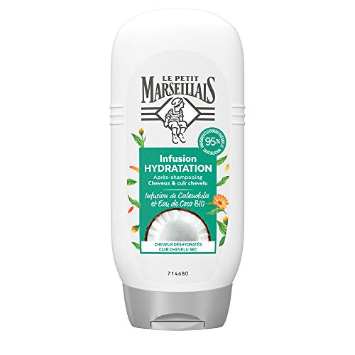 Le Petit Marseillais Après-Shampooing Hydratation Infusion Calendula/Eau de Coco
