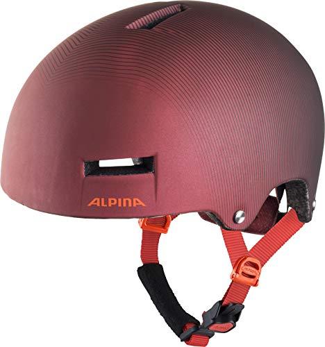ALPINA AIRTIME Fahrradhelm, Unisex– Erwachsene, indigo-cherry drop, 52-57
