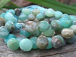 Jewel Beads Natural Beautiful jewellery Peruvian Opal beads onion shaped briolettes faceted stones stone 3 3/4 inch strand 7mm X 8mmCode:- JBB-43887