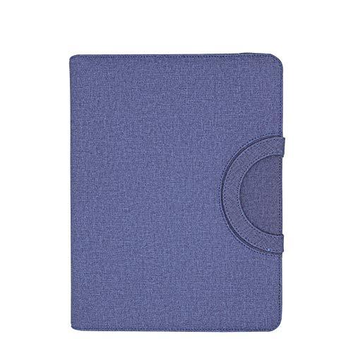 A4 Leder Notizblock Office Leder Dokumentenmappe Business Ledermappe Meetings Schreibmappe Konferenzmappe blau